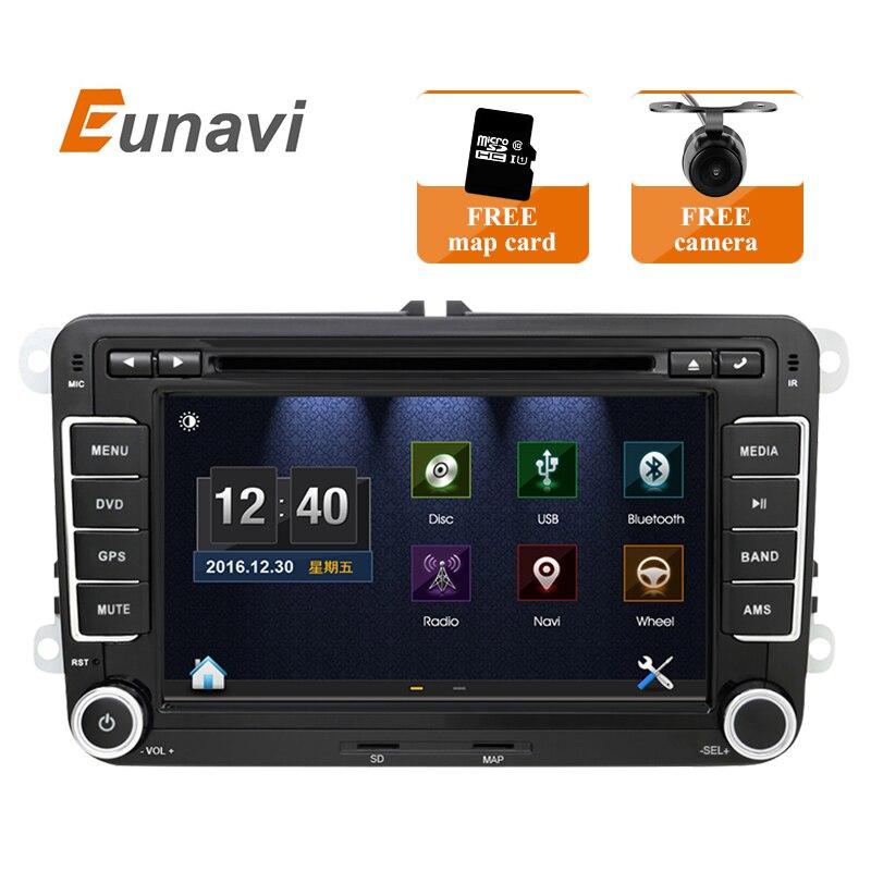 imágenes para 2din 7 inch VW Del Coche DVD GPS PC de Navegación para VW GOLF POLO TOURAN JETTA MK5 MK6 PASSAT B6 GPS Mapa de radio estéreo, bluetooth, FM/AM