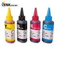 Universal 4 cores dye ink para epson impressoras premium 100 ml 4 cores de tinta bk c m y para epson t0731 ciss t1281 etc toda a impressora de tinta