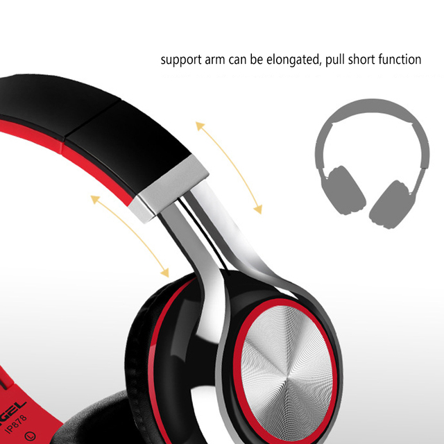 IP878 Super Bass Earphones Stereo Headset Foldable Wired Headphones with mic 3.5mm Aux Jack for Android phone iphone mp3 PC