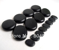 16pcs/set lava Natural Energy massage stone set hot spa rock basalt stone 16pcs with heater bag