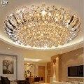 Europeu-estilo de luxo lâmpadas circulares luzes da sala de estar led iluminação quarto luzes de teto de cristal atmosfera upscale dia800mm