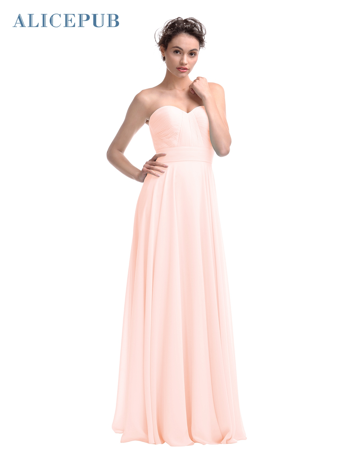 Alicepub sweetheart bridesmaid dresses long chiffon maxi wedding alicepub sweetheart bridesmaid dresses long chiffon maxi wedding party dress romantic homecomong dressing gown free shipping in bridesmaid dresses from ombrellifo Image collections