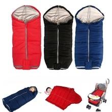 Hot Winter Baby Sleeping Bag Stroller Sleeping Bags Tollder Outdoor Windproof Thick Swaddle Bag Infant Cart Blanket Sleepsacks