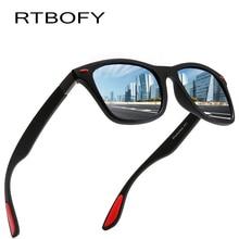 RTBOFY BRAND DESIGN Sunglasses Men Women Classic Retro Rivet Polarized Sun glasses Design Square Frame 100% UV Protection