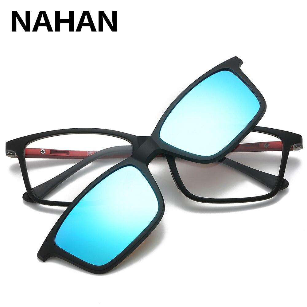 ec48d8cf01 TR90 Ultra-light HD Polarized Clip On Sunglasses for Men Women Magnetic  Eyewear Eyeglass Frames Myopia Optical Glasses Frame