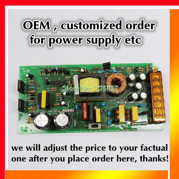 OEM customized order for power supply, other order, price adjust after order placed, before make payment, order payment balance