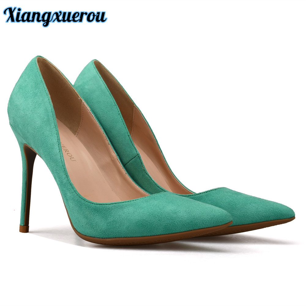 Xiangxuerou Hot Sale Classic Shallow Women Pumps Skor Faux Suede - Damskor