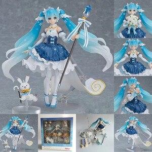Аниме Хацунэ Мику EX-054 Figma подвижные куклы Snow Miku 10th юбилей Vre. ПВХ фигурка Коллекционная модель игрушки для подарка
