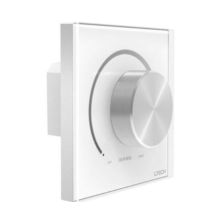 LTECH E610P AC 110 V/220 V entrée 5A puissance de commutation 0-10 V sortie manuel bouton panneau montage mural gradateur pour LED couleur simple la lumière