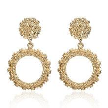 hot deal buy round vintage earrings for women of gold/silver earrings fashion jewelry earrings declaration 2019 modern fashion jewelry