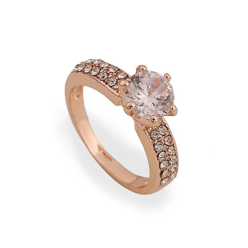 2015 New Design White Zircon Engagement Rings for Women Girls ...