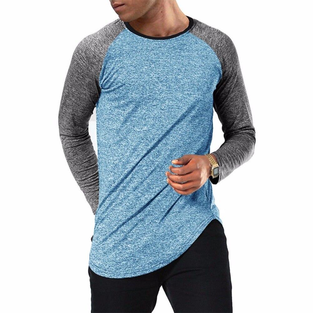 pretty nice 0b22c 96e8a US $12.98 30% OFF|SHOKOTANO Raglan Jersey T Shirt Men Long Sleeve Baseball  Hipster Basic SWAG Curved Hem Longline T Shirt-in T-Shirts from Men's ...