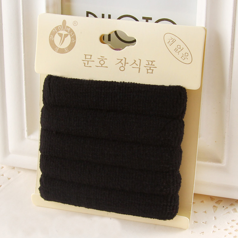 1 Pack Hohe Qualität Baumwolle Feste Elastische Haarband Stirnband - Bekleidungszubehör - Foto 4