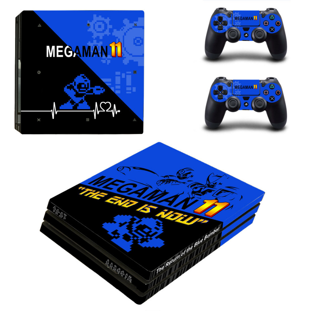 US $10 11 8% OFF|Game Mega Man 11 XI PS4 Pro Skin Sticker Decal for  PlayStation 4 Console and 2 Controllers PS4 Pro Skin Sticker Vinyl-in  Stickers