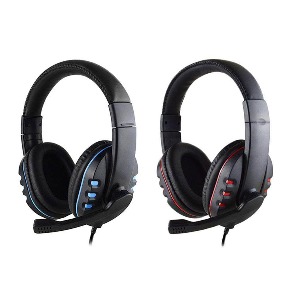 Wired Stereo PRO Headphone Gaming Headset 3.5mm jack For Sony PlayStation4 PS4 PS3 Controller PC Game Headphones With Microphone 3 5mm wired headphone game gaming headphones headset with microphone mic earphone for ps4 sony playstation 4 pc computer