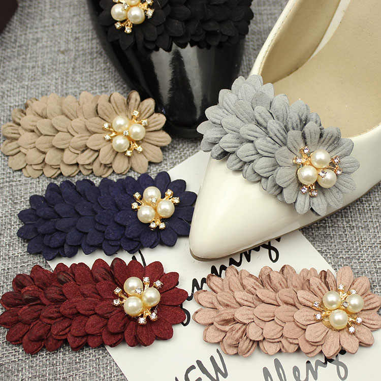 1 Paar Bloem Parel Bal Wedding Bridal Fashion Schoen Decoratie Hoge Hak Schoen Clips Charms