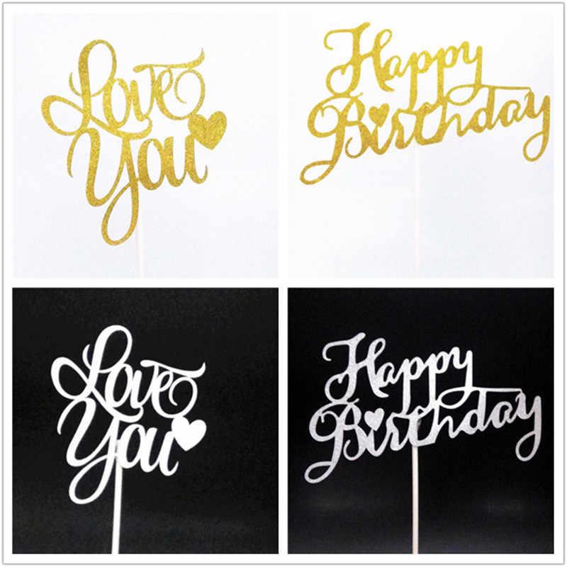 Пирожное для дня рождения топперы торт товары для вечеринки, дня рожденья Свадебные украшения Детские наборы; детский душ сувениры торт Топпер