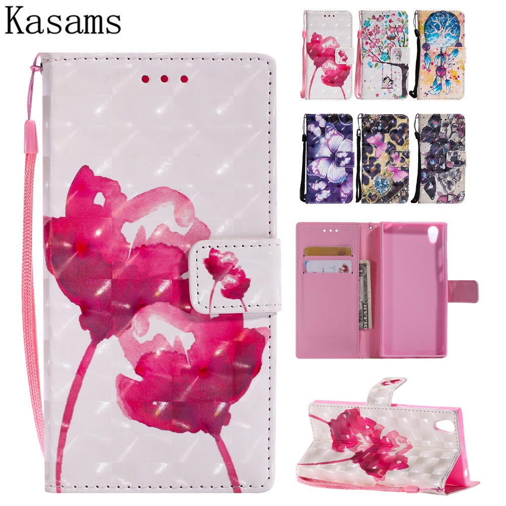 3D Art Painting For Sony Xperia L1 PU Leather Mobile Shell F