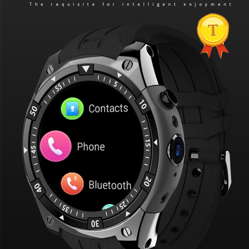 2018 1.3inch touch screen round shape waterproof 512+8 gb memory man smart watch phone watch support 3g wifi heart rate monitor цены