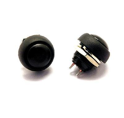 5PCS Black 12mm Waterproof Momentary Push Button Switch Mini Round Switch