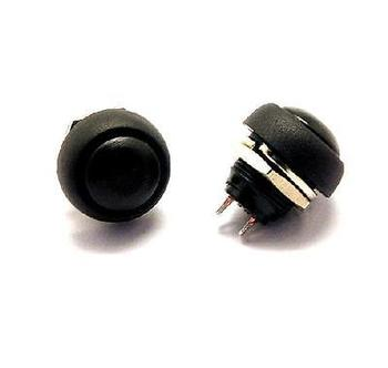 5PCS Black 12mm Waterproof momentary Push button Switch Mini Round Switch 5pcs lot black red green yellow blue 12mm waterproof momentary push button switch ve059 p40