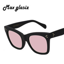 Newest 2018 Fashion Square Sunglasses Women Cat Eye Luxury Brand Big Black Sun Glasses Mirror Shades lunette femme Oculos