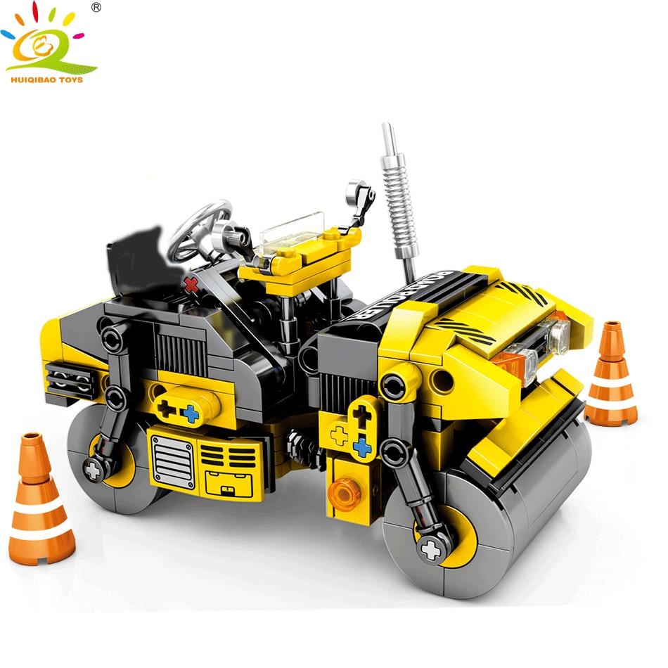 HUIQIBAO TOYS 288pcs City Roller Engineering Building Blocks For Children Legoingly Technic Construction Transport Truck Bricks