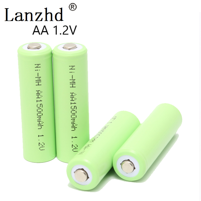 AA Rechargeable Battery 1.2V Ni-MH Battery AA rechargeable batteries for Remote Control Toy camera 1500MAH 4PCS or 8PCS