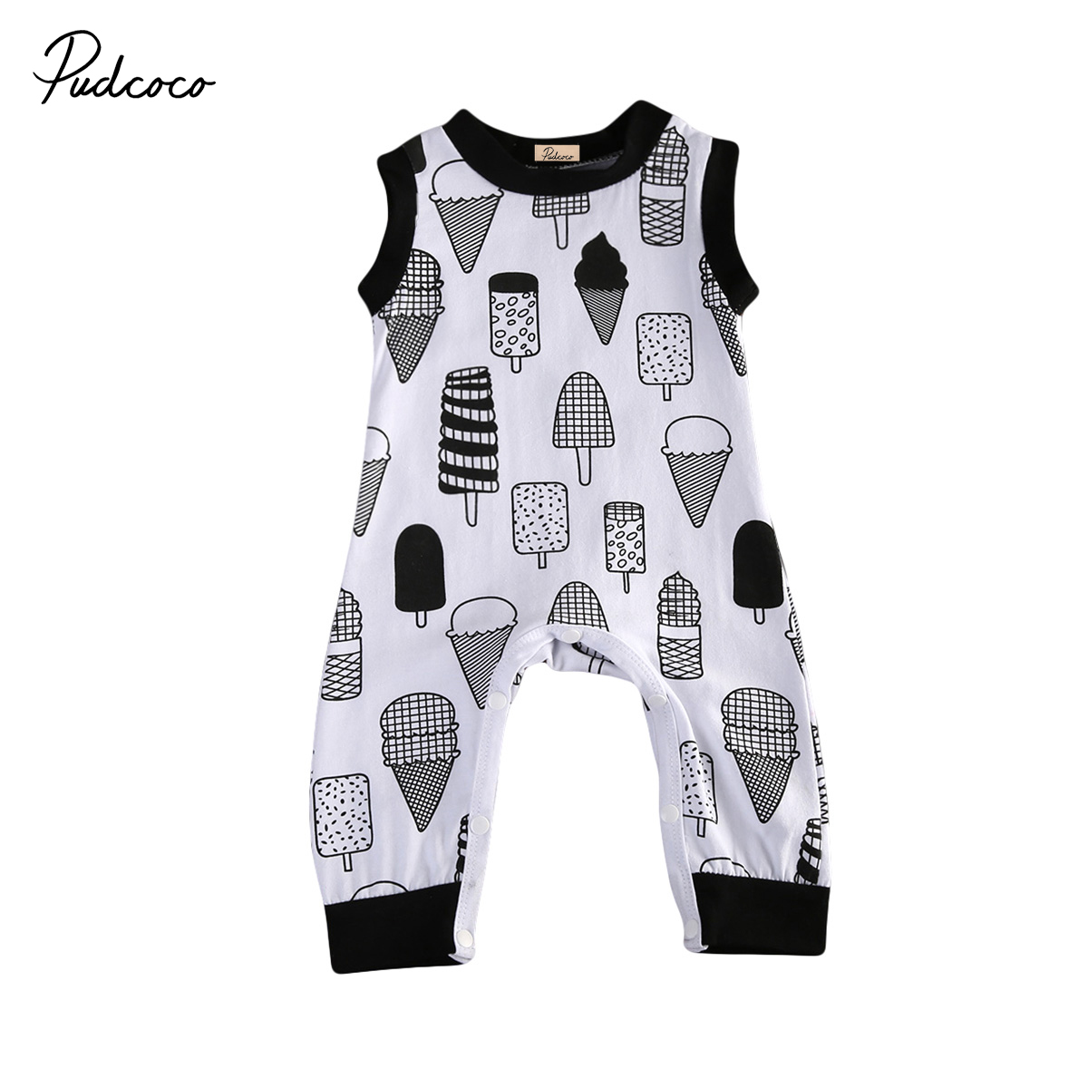 Infant Baby Boys Icecream Romper Clothes Newborn Kids Cotton Romper Jumpsuit sunsuits Outfit