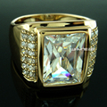 18k Gold Filled CZ Wedding Engagement mens Ring Band size 9 10 11 12 13 14 15 r199