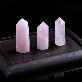 1 шт., натуральный розовый кварцевый кристалл, минеральное украшение, Волшебная ремонтная палочка, семейный домашний декор, обучающее украшение, подарок DIY