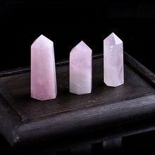 1 шт., натуральный розовый кварцевый кристалл, минеральное украшение, Волшебная ремонтная палочка, семейный домашний декор, обучающее украш...