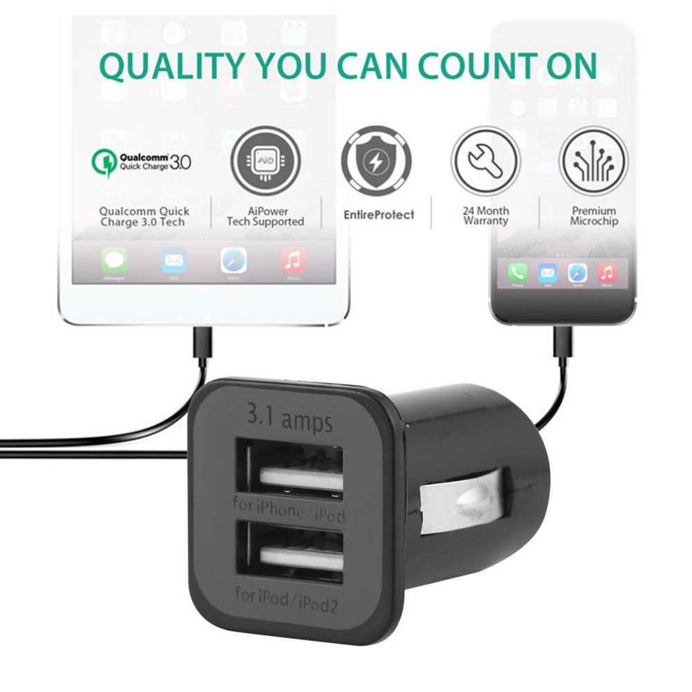 Tự động Phổ Kép 2 Cổng USB Car Charger 3.1A Mini Car Charger Adapter/Thuốc Lá Ổ Cắm cho iPhone iPad iPod tablet PC Hot