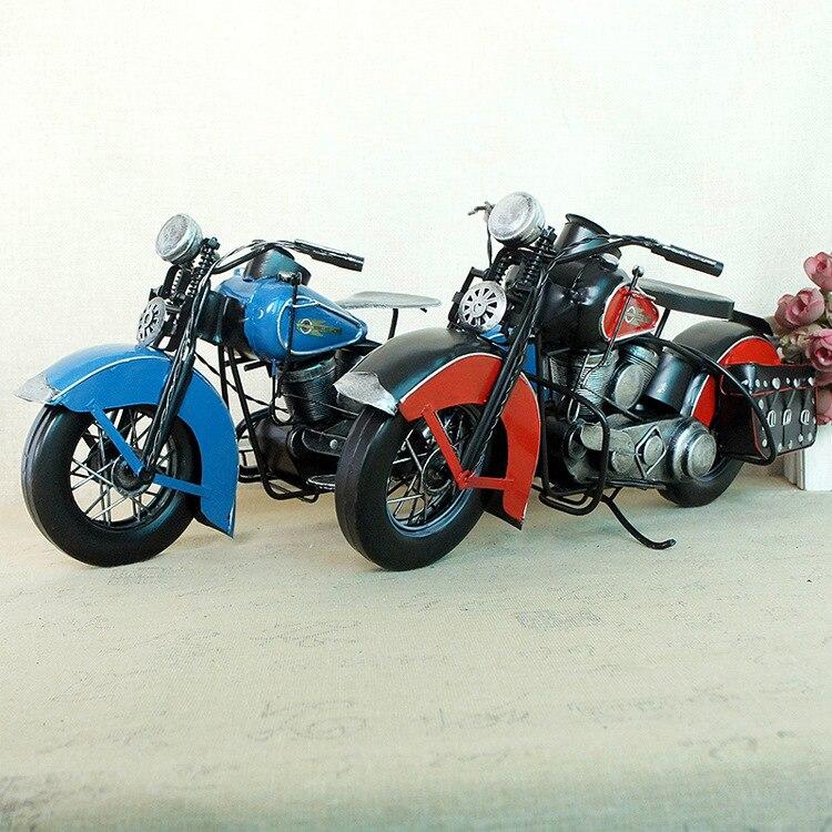 Новая модель тяжелого мотоцикла в стиле ретро, металлический креативный подарок, украшение дома, аксессуары для украшения дома, современны