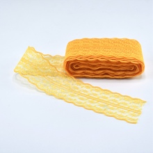 10 Yards/Lot 45mm Wide Gold Cotton Lace Trimmings for Sewing DIY Embroidered Ribbon Dress Decoration African Fabric