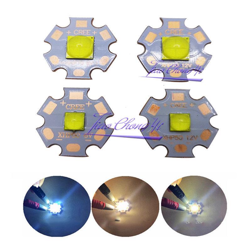 CREE XHP50.2 XHP70.2 Generation LED Chip 6V 12V White/warm White 20mm Copper PCB