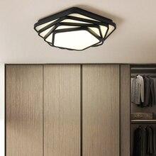 Yeni Siyah Beyaz Sanat Modern led tavan avize oturma odası yatak odası için luminarias avize lamba ışıkları lamparas de techo