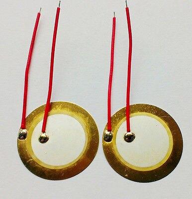 10PCS 18mm Piezo Elements Sounder Sensor Trigger Drum Disc wire copper