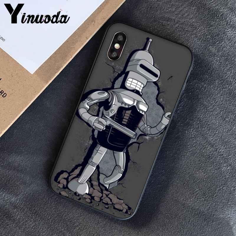 Yinuoda Futurama Бендер Smart Cover черный мягкий в виде ракушки Телефон чехол для iPhone 6 S 6 plus 7 8 X Xs MAX 5 5S XR