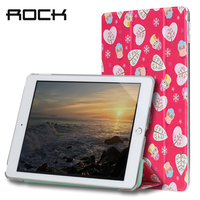 Rock PU Leather Case For Ipad 2017 Cover Auto Sleep Wake Magnetic Tablet Stand Case Soft