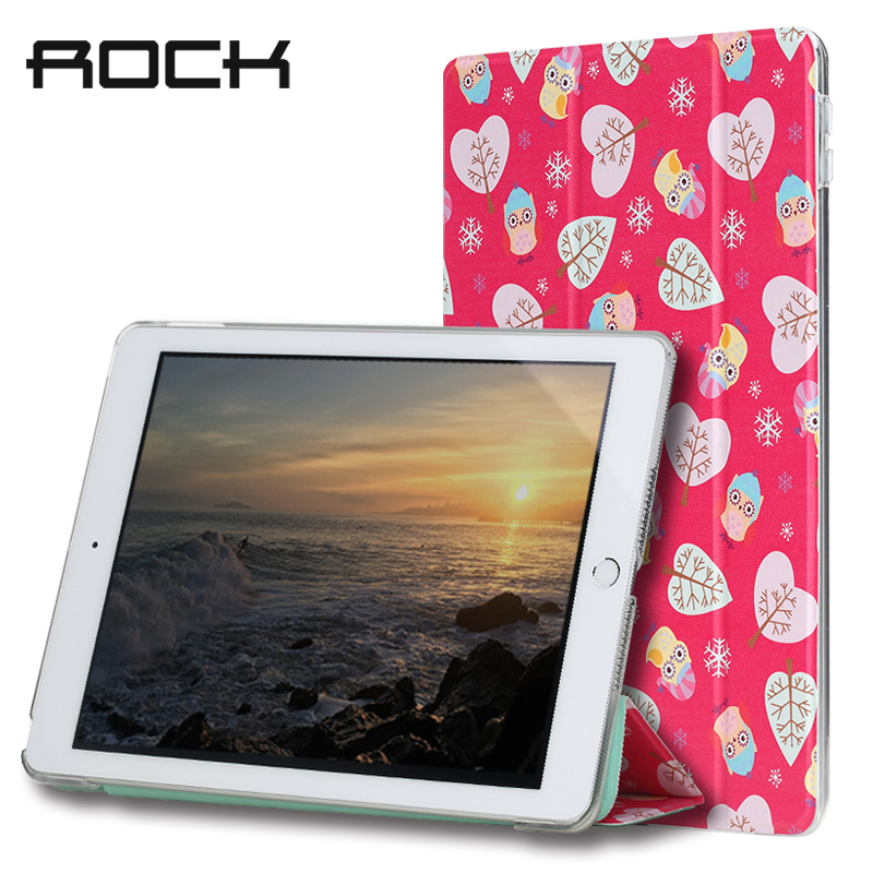 Rock PU Leather Case for ipad 2017 Cover Auto Sleep&Wake Magnetic Tablet Stand Case Soft TPU Back Cover Anne's Garden Series for ipad mini4 cover high quality soft tpu rubber back case for ipad mini 4 silicone back cover semi transparent case shell skin