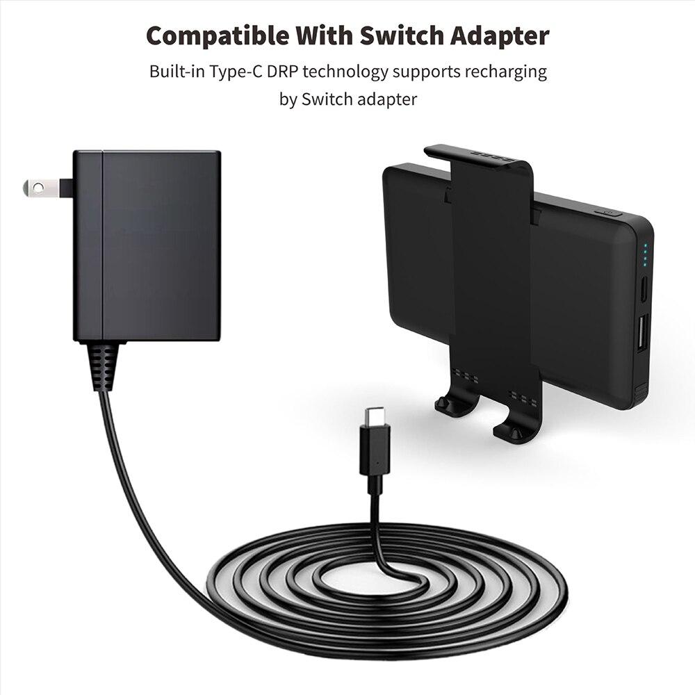 Batterie externe 10000 mAh pour Console de commutation ntint batterie externe pour Nintendo Switch chargeur rapide pour iPhone Android pour iPad - 6