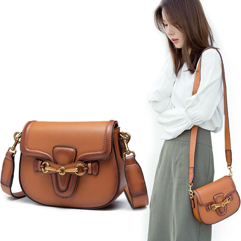 цена Luxury Designer Handbag High Quality Lady Web Bag Famous Brand Genuine Leather Saddle Shoulder Bag