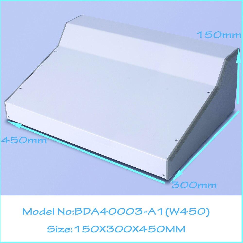 (1 pièces) 150x300x450mm en aluminium boîtier de boîtier d'extrusion boîtier de boîtier d'instrument pcb sortie laisser boîtiers