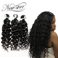 NEW STAR 3 Bundles Natural Wave Brazilian Unprocessed Virgin Human Weave Hair Extension Thick Soft Natural Color Cuticle Intact