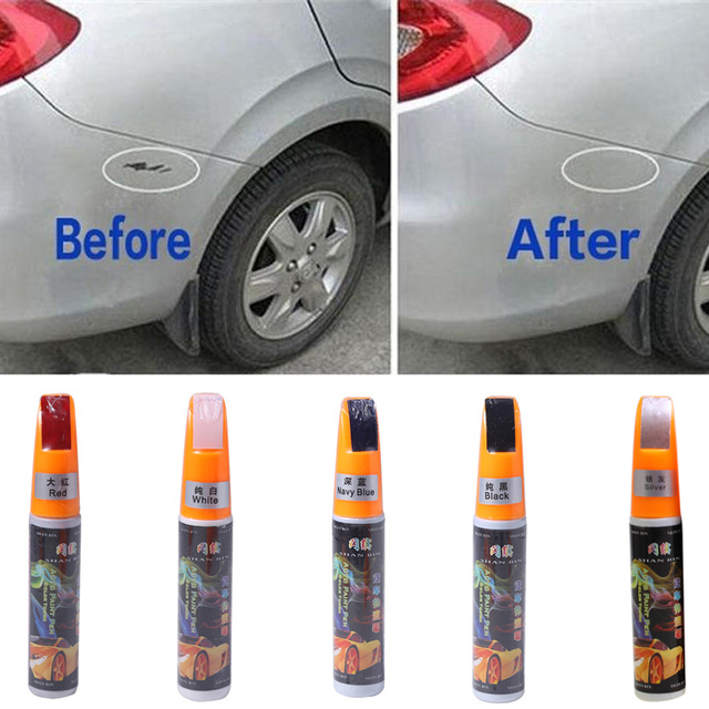 White car paint scratch repair pen