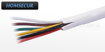 HOMSECUR 20m 6 Core Copper Cable With White PVC Insulated Outer Casing three core xlpe insulated steel tape armored pvc pe sheathed pure copper power cable rated voltage 0 6 1kv yjv22 3 150mm2