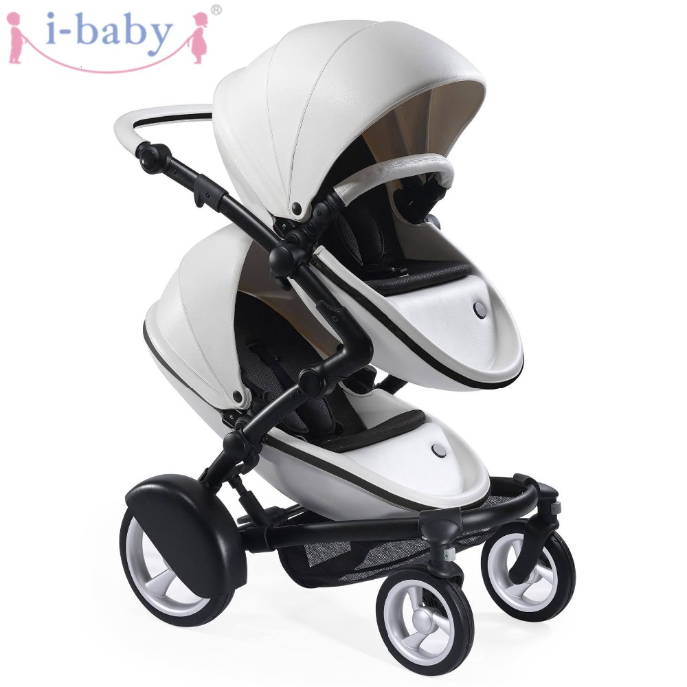 i-baby Luxury Kobi Baby Double Stroller High Landscape Portable Lightweight Foldable Baby Pram Pushchairs Kinderwagen