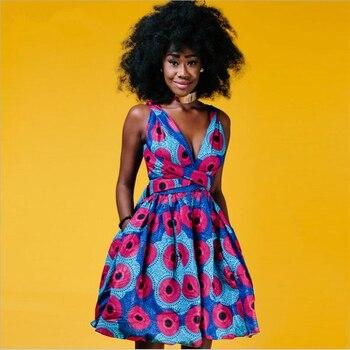 95c97759b7dc Sexy moda ropa africana para mujer 2019 wrap bandage vestido sin tirantes  estilo Pop arte vestido sin espalda halter, 3 usar opciones