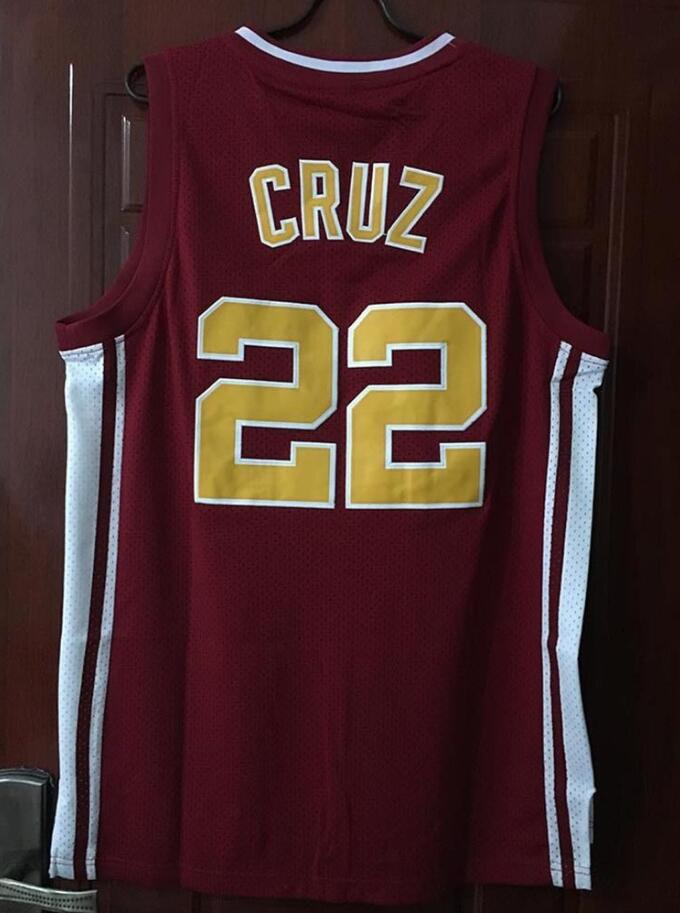 eef337ef2 USA Shipping Timo Cruz 22 Richmond Oilers Home Basketball Jersey Double  Stitched Jersey Color Red S M L XL XXL XXXL